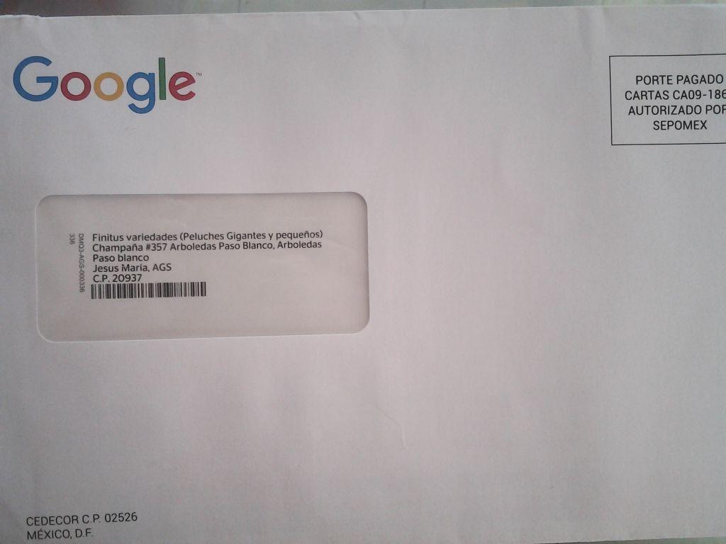 carta de google a osospeluches